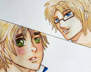 USUK watercolour and ink by mattie6w