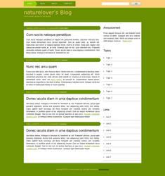 Naturelover's Blog Template by BogdanPantea