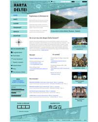Harta Deltei Homepage Template by BogdanPantea