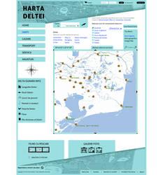 Harta Deltei Maps Page Template by BogdanPantea