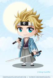 Chibi Twin Samurai Sting Eucliffe by CelestialRayna