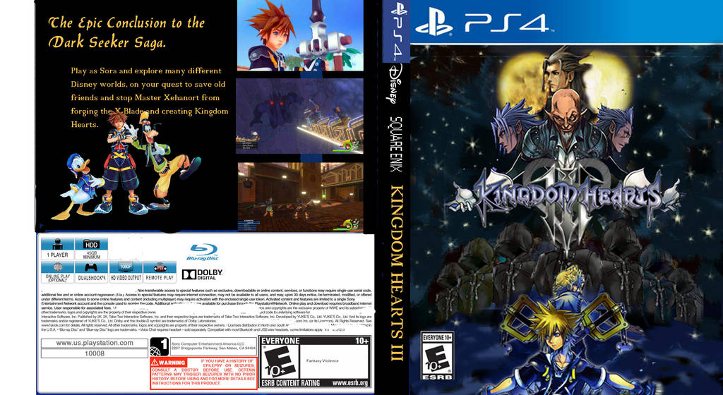 Image result for kingdom hearts 3 game cover