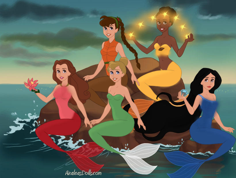 Disney fairies as mermaids pt. 1 by Angelicmoonfantasy