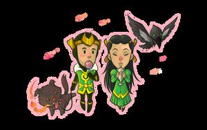Loki and Leah by pumpkinbear