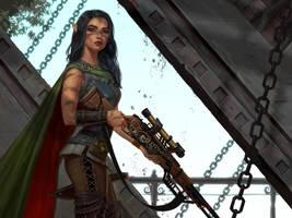 Elven sniper by NikitaNV
