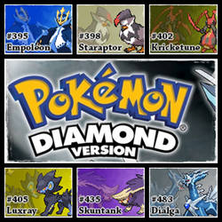 PokemonDiamondVersion.SinnohChampionshipTeam by Riftinge