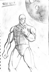 Thanos - sketch by NRZ-Cane