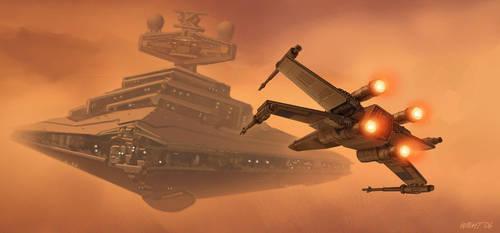 Battle for Dantooine by joewight
