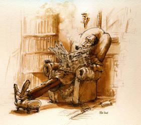 inktober - ACD classic Sherlock by Pika-la-Cynique
