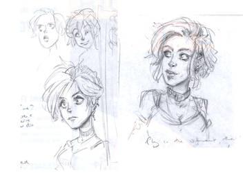 Dresden Files - Molly Carpenter doodles by Pika-la-Cynique