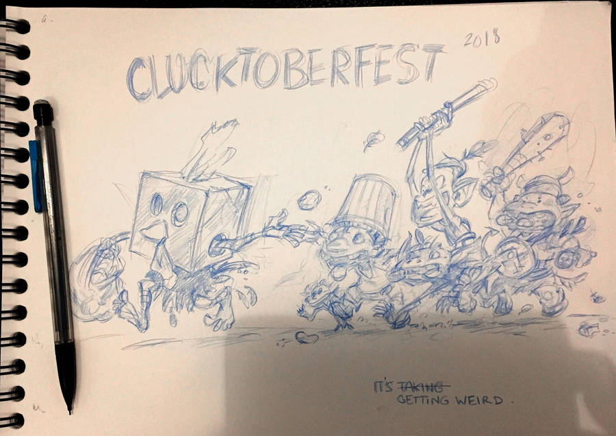 CLUCKTOBERFEST 2018 - temp pencils by Pika-la-Cynique