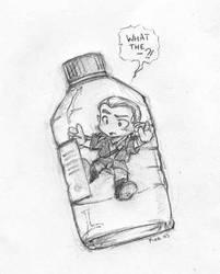 Elf in a bottle by Pika-la-Cynique