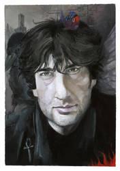 Neil Gaiman portrait by Pika-la-Cynique