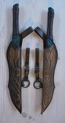 Elven dagger-scabards Comm by Sharpener