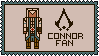Assassin's Creed stamp | Connor Fan by Lazorite