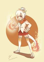 Effie the white Charmeleon by Gyzra