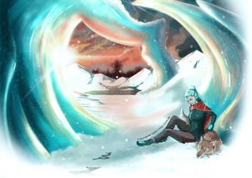 Snow traveller by Gyzra