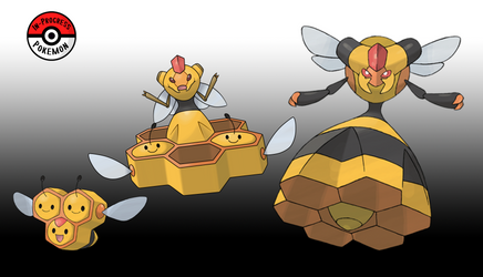415 - 416 Combee Line by InProgressPokemon