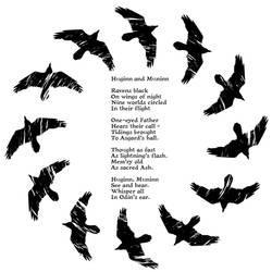Huginn and Muninn poem by handtoeye