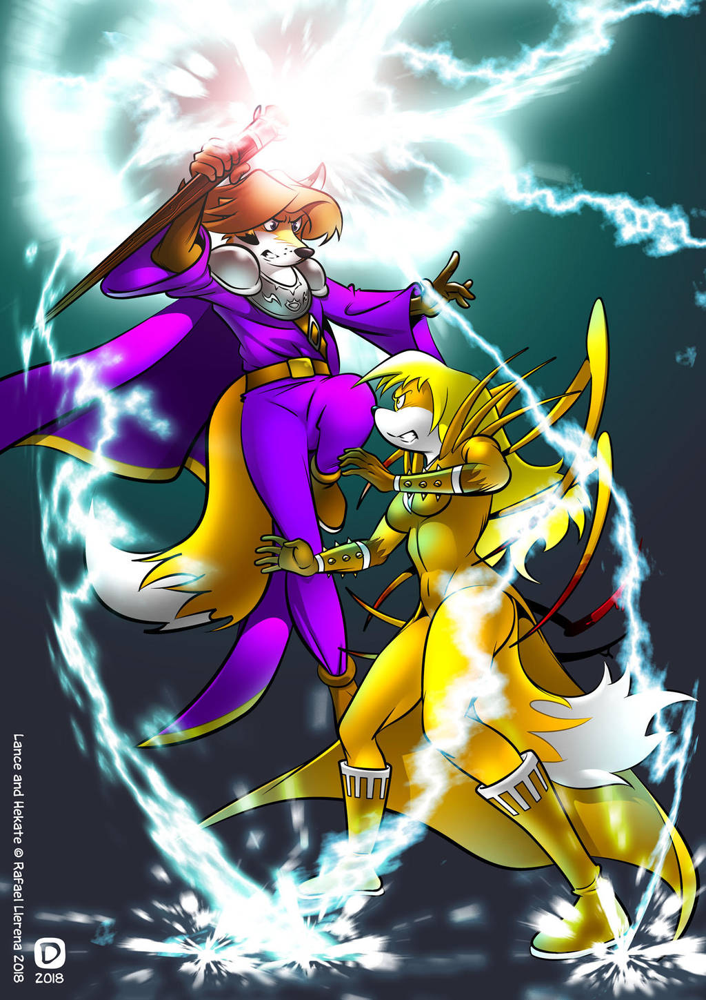 Lance vs. Hekate by handtoeye