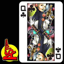 Queen of clubs by handtoeye