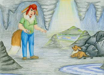 Harvest Lunatone - Cave #1 - Mine Discovery by FelineBlue80