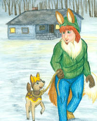Harvest Lunatone: Helping Deer Friends by FelineBlue80
