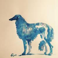 Blue Borzoi Dog by alempe