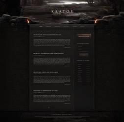 Kratos - Medieval Fantasy Website Design by xDrac