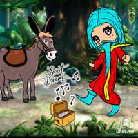 Donkey and Mage by LuhaBiha