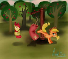 Applejack's training. by QuadICE