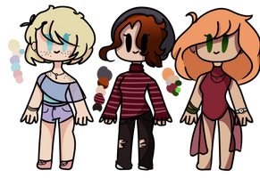 Free Adoptables! (1/3) by EternalCosmos7