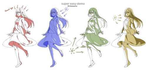 Super easy demo: Shading fullbody by chisacha