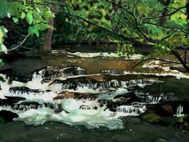 Creek Waterfall by ZeldaGeek401