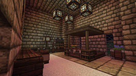 Minecraft - Fortress - Bedroom by Homunculus84