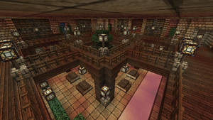 Minecraft - Fortress - Underground library 2 by Homunculus84