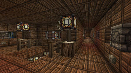 Minecraft - Pirate Ship - Cannons + Crafting rooms by Homunculus84