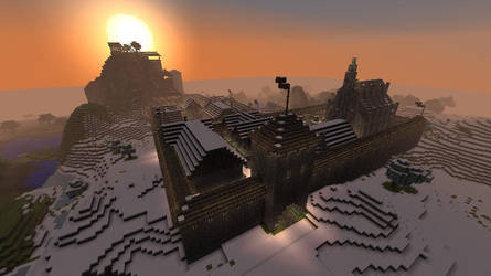 Minecraft - Medieval Town - Overview by Homunculus84