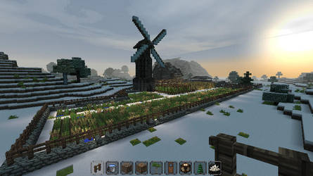 Minecraft - Medieval Town - Fields outside walls by Homunculus84