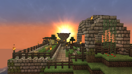 MInecraft - Mountain Base top 2 by Homunculus84