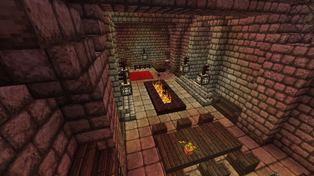 Minecraft - Mountain Base - Dining hall by Homunculus84