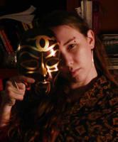 portrait with mask by RachelHWhite