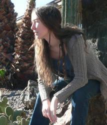 self portrait with cacti by RachelHWhite