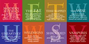 OtherWorlds Festival Factions - typography designs by RachelHWhite