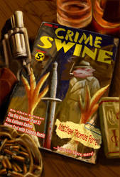Crime Swine book cover by RachelHWhite