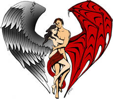 Winged Lovers by RachelHWhite