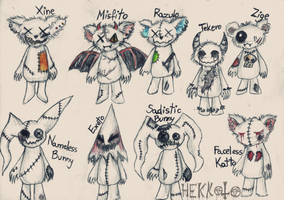 Plushies of evilness~ by Hekkoto