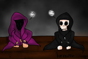 Lil Keeper and Grim Reaper by Hekkoto
