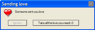 Sending love error message by Hekkoto