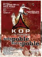 cartell primer concert de kop by lughdailh